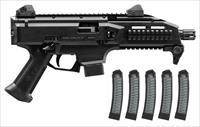 CZ Scorpion EVO 3 S1, black, two factory 10rd mag, w/ 5 Manticore 32rd mags
