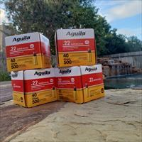 .22 LR Ammo - 2000 Rounds Aguila 22 Long Rifle