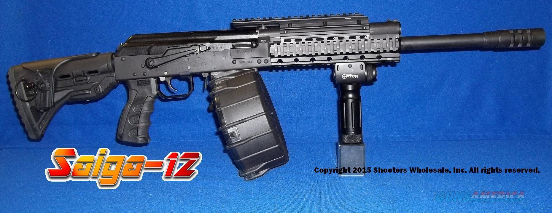 SAIGA 12 RUSSIAN AK47 TACTICAL 12 GAUGE SHOTGUN... for sale on aw gun, mm gun, gm gun, dd gun, tt gun, mr gun, sg gun, sk gun,