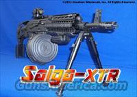 SAIGA-XTR AK47 FULL TACTICAL CONVERSION! G2 TRIGGER MOVED FORWARD+ACCEPTS STANDARD AK47 MAGS & DRUMS+GUN-KOTE FINNISH+GL-SHOCK RECOIL ABSORBING STOCK+QUAD-RAIL+75RD DRUM+3- 30RD MAGS+R/G MICRO CIRCLE DOT SIGHT+BIPOD+PHANTOM FLASH HIDER+MORE