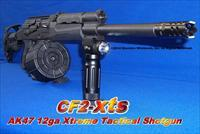 CF2-XTS AK47 12 GA XTREME TACTICAL SHOTGUN! ACCEPTS SAIGA 12 DRUMS+GUN-KOTE+COMPACT THREADED MUZZLE BREAK+GL-SHOCK RECOIL ABSORBING STOCK+12RD DRUM+VERTICAL GRIP WITH 250 LUMEN LED LIGHT / STROBE COMBO