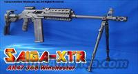 "SAIGA-XTR 308 WINCHESTER PROFESSIONAL TACTICAL CONVERSION! PRECISION FLUTED 21.8"" BARREL+GUN-KOTE+ISRAELI GL-SHOCK RECOIL ABSORBING STOCK+ALUMINUM QUAD-RAIL FOREARM+MONOGRIP PISTOL GRIP+CUSTOM THREADED MUZZLE WITH HEAVY DUTY BRAKE+MORE!"