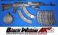 BLACK WIDOW AK47 TACTICAL RIFLE PACKAGE-CUSTOM BUILT IN THE USA! GUN-KOTE METAL FINISH+M4 COLLAPSIBLE STOCK+ALUMINUM QUAD-RAIL FOREARM+PHANTOM FLASH HIDER+KOREAN 75RD REAR LOAD DRUM+TEN(10) 30RD MAGS+TWO 40RD MAGS+FOLDING VERTICAL GRIP+MORE