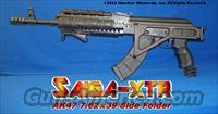 SAIGA XTR CUSTOM AK47 SIDE FOLDING RIFLE PACKAGE: FULL PROFESSIONAL CONVERSION WITH G2 TRIGGER GROUP+ALUMINUM SIDE-FOLDING STOCK+ISRAELI PISTOL GRIP+GUN-KOTE+THREADED MUZZLE+SPIKE MUZZLE BREAK+ANGLED FOREGRIOP+ALUMINUM QUAD RAIL+MORE!