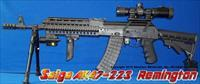 SAIGA RUSSIAN IZHMASH AK47 223 REMINGTON-FULL PROFESSIONAL TACTICAL CONVERSION! GUN-KOTE+ETCHED GLASS SCOPE+QUICK DETACH SIDERAIL MOUNT+250 LUMEN LED/RED LASER COMBO+BIPOD+QUAD RAIL+COLLAPSIBLE STOCK+SPIKE MUZZLE BREAK+TWO 30RD MAGS+MORE!