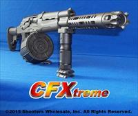CF-XTREME AK47 12 GAUGE SHOTGUN! ACCEPTS SAIGA 12 STYLE DRUMS & MAGS+THREADED MUZZLE+BARREL SHROUD / MUZZLE BREAK+SIX POSITION COLLAPSIBLE STOCK+GUN-KOTE METAL COATING FINISH+12RD DRUM+FOLDING ALUMINUM FOREGRIP+HOGUE PISTOL GRIP+MORE!