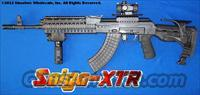SAIGA-XTR AK47: GUNKOTE FINISH+GL-SHOCK RECOIL ABSORBING STOCK+ALUMINUM QUAD RAIL+GREEN LASER/250 LUMEN LED VERTICAL GRIP+QD SIDERAIL MOUNT+CQB DOT SIGHT+BIPOD+MORE!