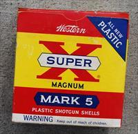 Vintage Western Super X Magnum Mark 5 Shotgun Shells 1960's