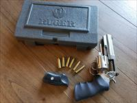 Ruger GP100 Stainless .357 Magnum Adjustable Sight Plus Accessories