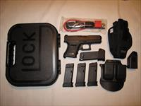 Glock 36 with accessories - Shot 60 times like new ........ FREE SHIPPING