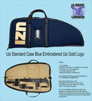 UZI Carbine, UZI SMG, 0.22 UZI Rifle IWI-Walther case, Blue, Embroidered UZI gold logo