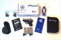 Like New Beretta PICO .380 With Trijicon Nite Sights and Extras