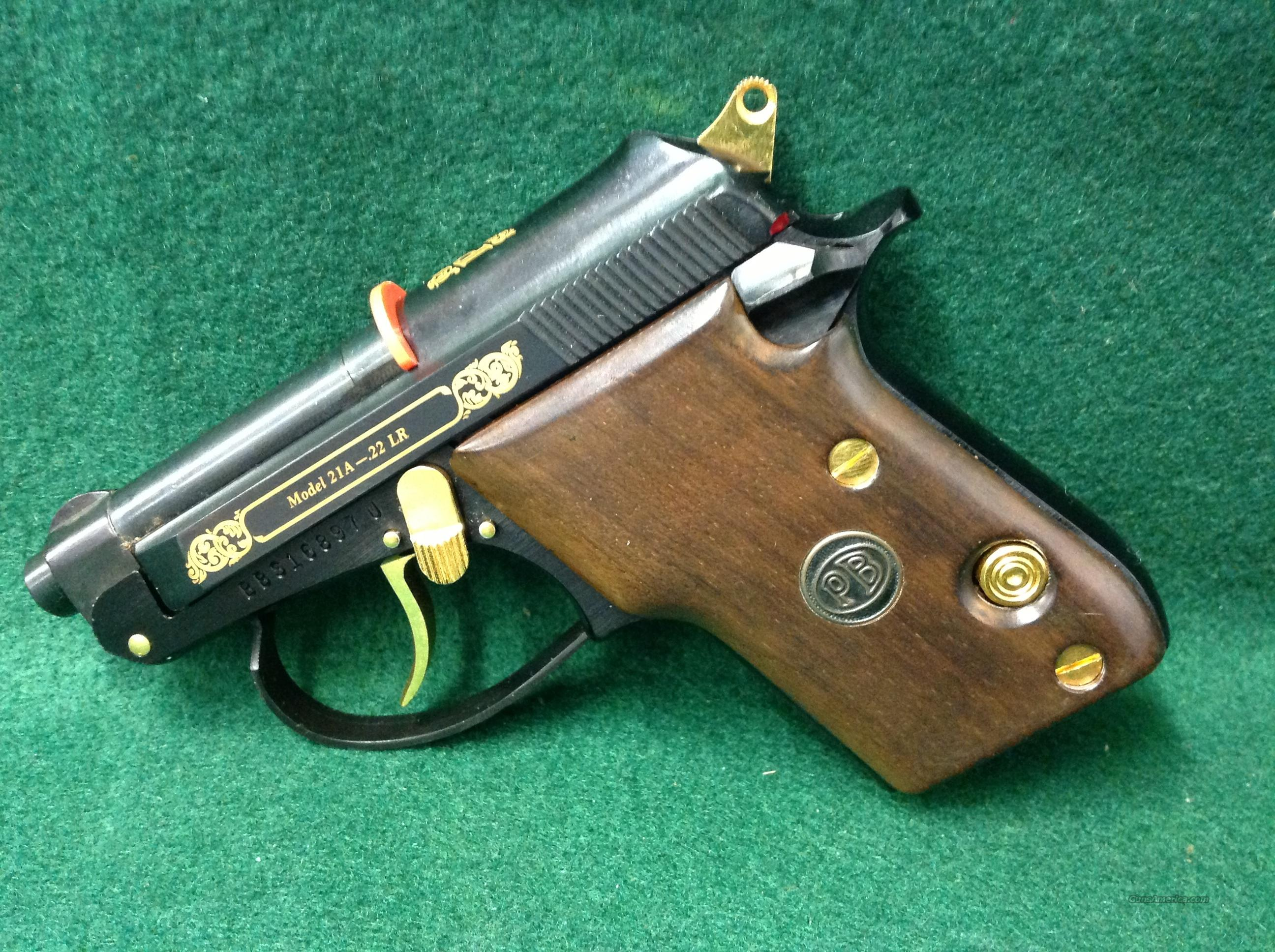Beretta 21A  22LR Gold Accents