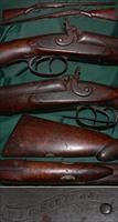 W & C Scott & Son percussion double barrel shotgun