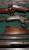 "antique Stevens ""Tip-up"" single shot rifle"