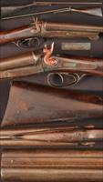 Manton under lever double barrel cartridge shotgun
