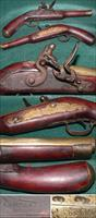 Flintlock reconversion belt pistol by Lane & Read, Boston