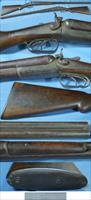 antique US Arms Co damascus double shotgun