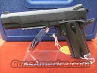 COLT BLACKENED S/S RAIL GUN MODEL #O1980RG DISCONTINUED BY COLT