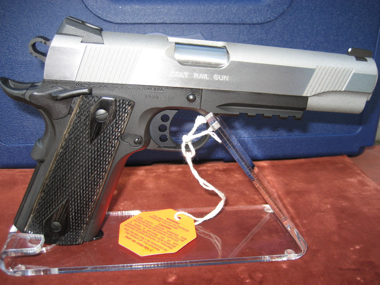 colt 2 tone rail gun model o1970rg for sale. Black Bedroom Furniture Sets. Home Design Ideas