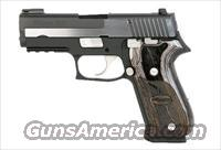 Sig Sauer P220 EQUINOX, 2-Tone Polished Nitron Finish, TRUGLO TFO Front, SLITE Rear Night Sights, Wood Grips
