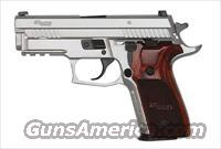Sig Sauer P229 STAINLESS ELITE, All Stainless, Beavertail, SRT, SLITE Night Sights, Wood Grips