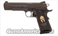 Sig Sauer 1911-FULL-SIZE MOLON LABE, Custom Engraved Nitron, Spartan Helmet Grips, LoPro Night Sights