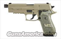Sig Sauer P220 SCORPION, Elite, Flat Dark Earth Finish, Beavertail, SRT, SLITE, Hogue Extreme G10 Grips---Same as P220 SCORPION above, WITH threaded barrel (.578x28TPI) ***Discontinued***