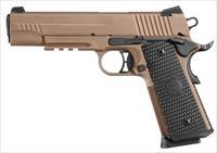 Sig Sauer 1911 Emperor Scorpion .45, (2) 8  rd magazines, ambidextrous safety, low-profile night sights, all black controls, custom G10 grips with magwell and SigMark, skeletonized trigger, flat dark earth finish, 26lpi front strap checkeri
