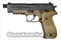 Sig Sauer P226 COMBAT, FDE Frame Finish, Chrome-lined Barrel, SLITE Night Sights, 1913 Picatinny Rail-- WITH threaded barrel (13.5x1mm LH)