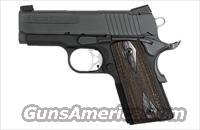 Sig Sauer 1911-ULTRA-Compact Ultra, Nitron Finish, Low Profile Night Sights, 3 Hole Trigger, Rosewood Grips