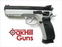 CZ 75 SP-01 Shadow CUSTOM Competition 9mm Duo Tone FO Ext Controls 85 Combat Features 3-18 Rd Mags *NEW* 91155