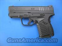 Springfield XDS 45 Compact Black Single Stack Fiber Optic XDS93345BE