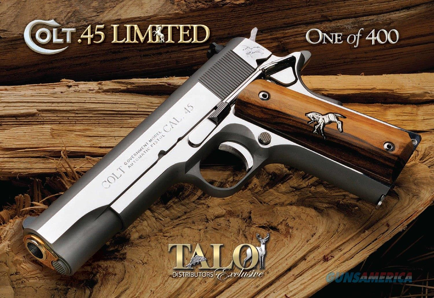 colt 1911 series 70 limited edition bright polished sta