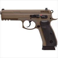 CZ 75 SP-01 9mm FDE 18rd TruGlow Night Sights Tactical Rail 91262 *NEW*