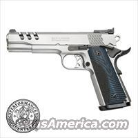 "Smith & Wesson 1911 Performance Center .45 acp *NEW* Stainless 5"" G10 Grips Lightened Slide Magwell Ambi Safety"