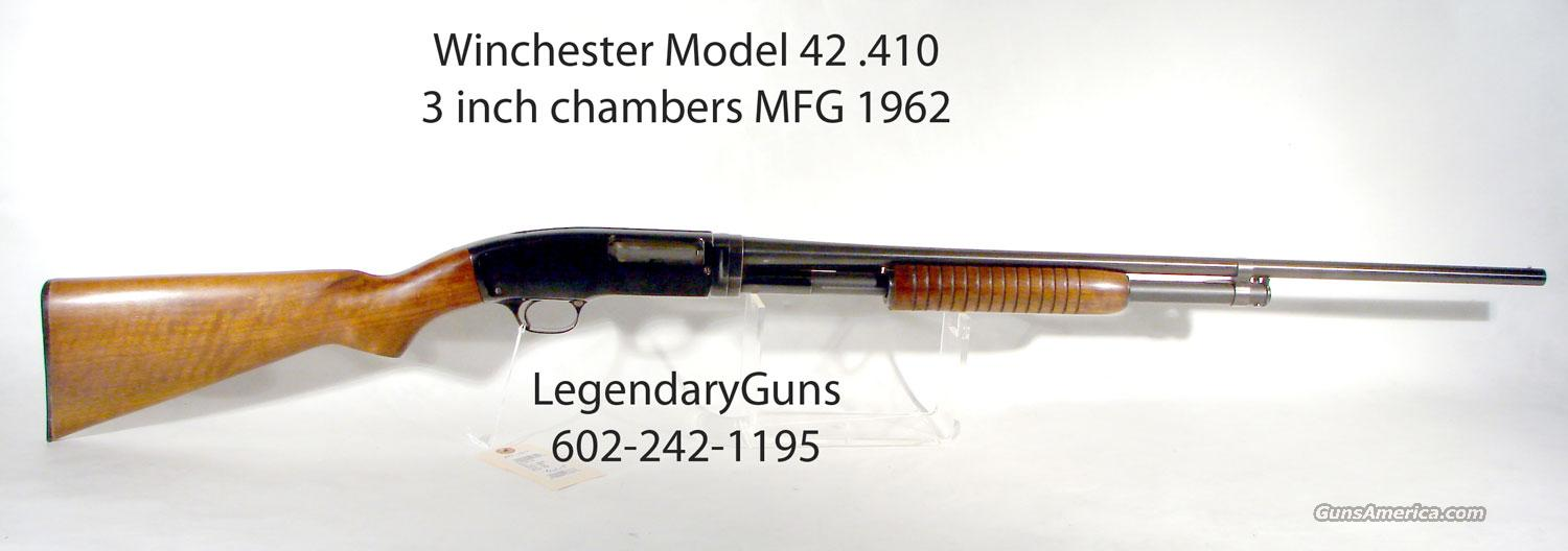 winchester model 42 410 pump 3 inch chamber for sale