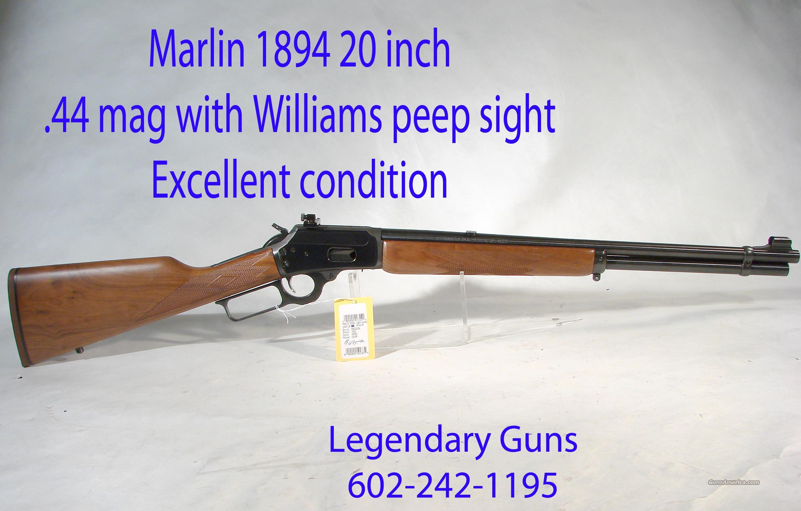 Marlin 1894 20 inch round bbl,  44 mag,