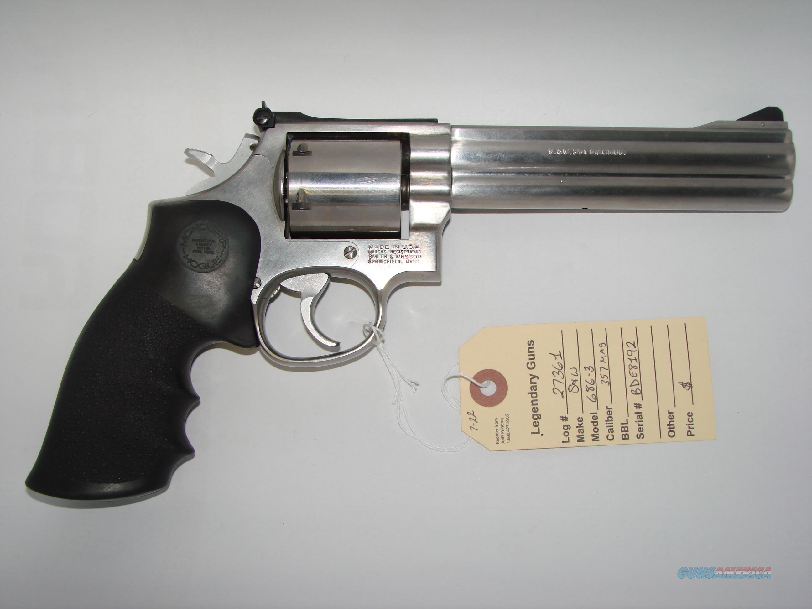 SW 686 3 W Action Job Guns Pistols Smith Wesson Revolvers