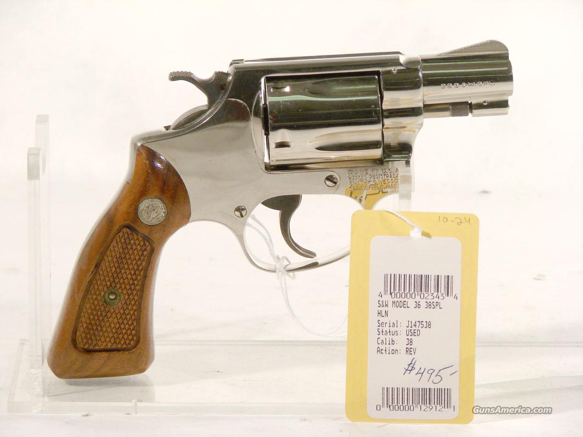 S&W Model 36 .38 spl J-frame Nickel for sale