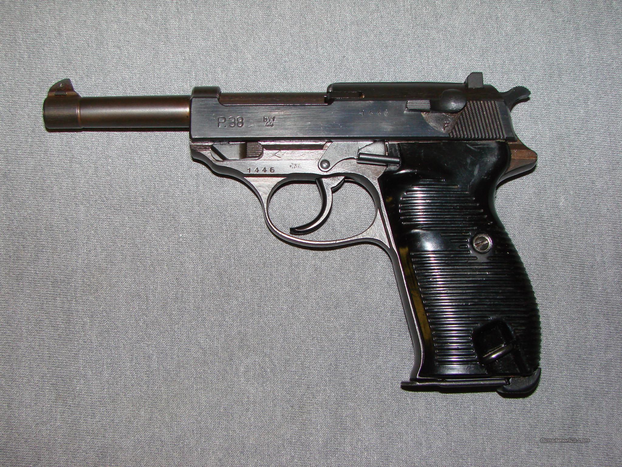 """Mauser P38 CVQ 9mm 8 1 5"""" BBL"""