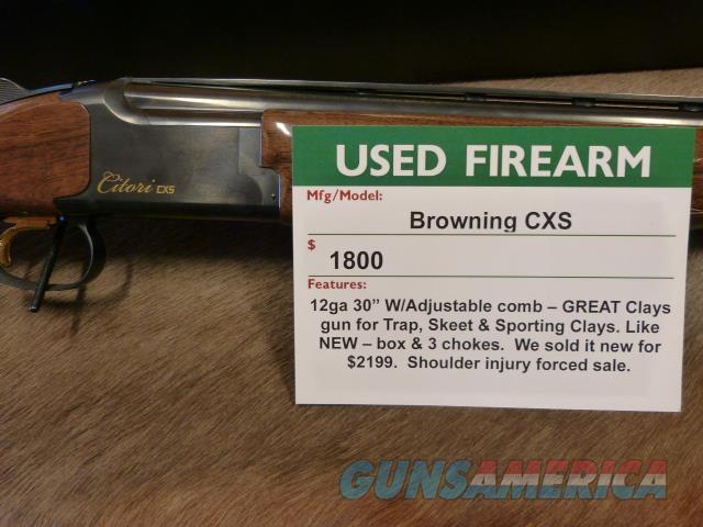 Browning Citori CXS LNIB W/Adj  Comb