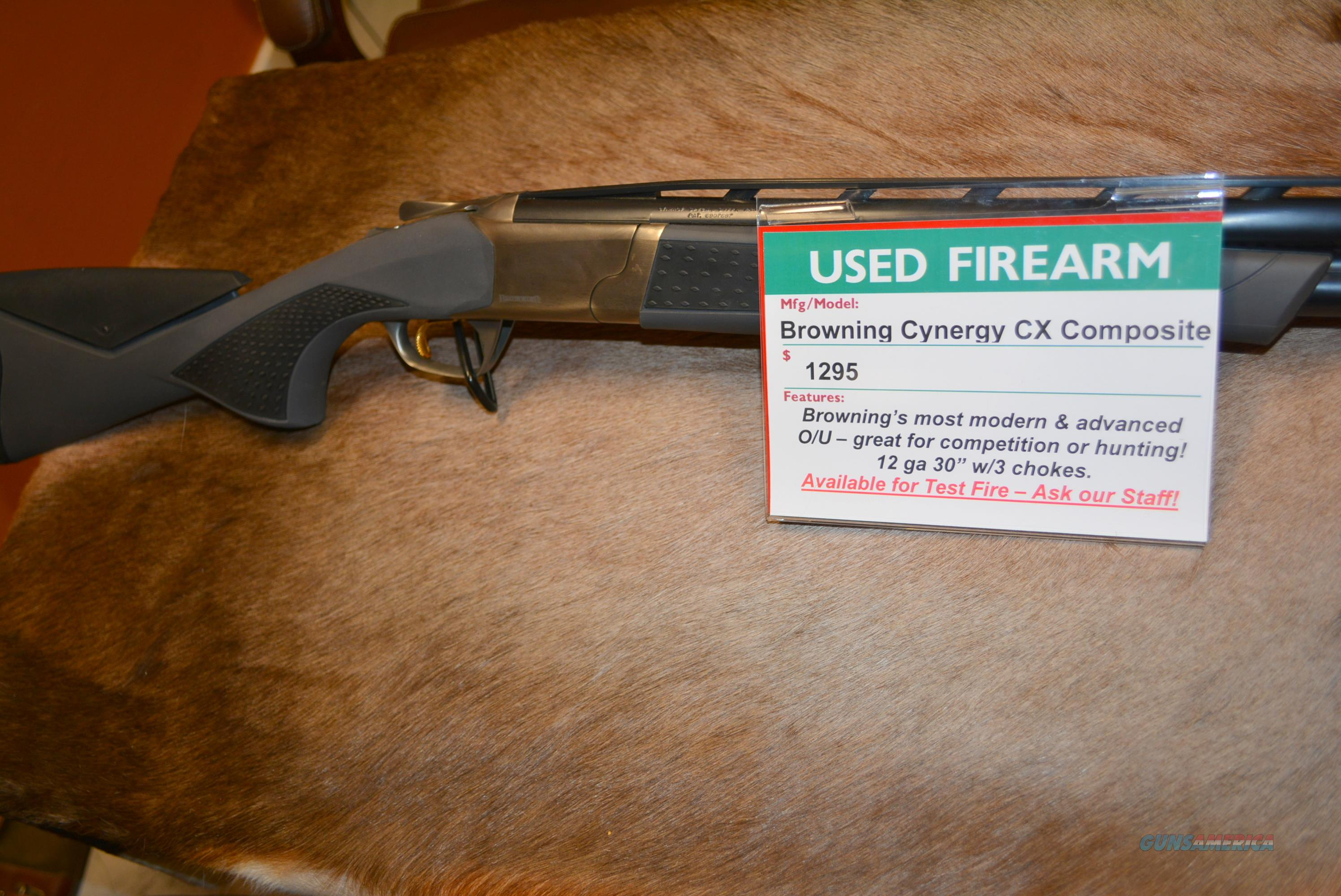 Browning Cynergy CX Composite 12/30 Used