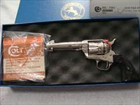 Colt SAA 3rd gen nickel 45LC 4 3/4in bbl factory engraved