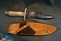 Tommy Sumner Custom Engraved Bowie Knife