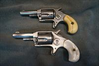 Red Jacket Revolvers No3 + No8 1 engraved 1 with pearl grips, for the pair