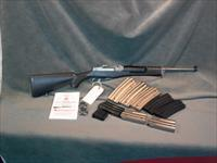 Ruger Stainless Mini 14 223 Ranch Rifle with 9 magazines