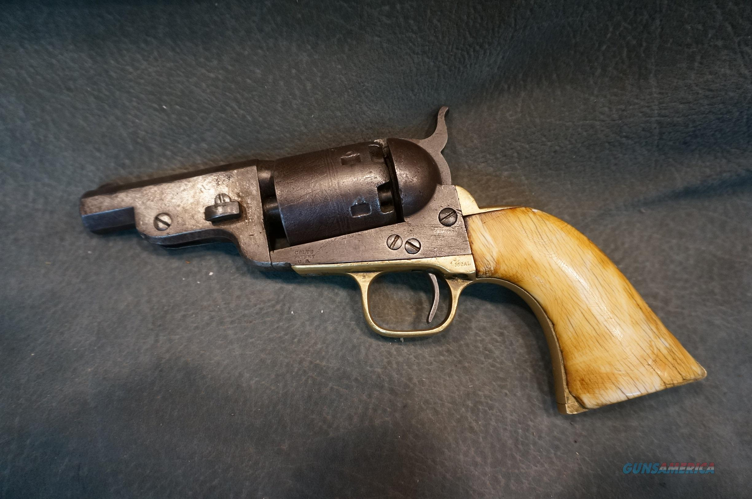 "Colt Mormon Avenger Martially Marked 1851 Navy 3"" with Ivory grips"
