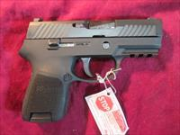 SIG SAUER P320 SUB COMPACT W/ RAIL AND 3 DOT SIGHTS NEW  (320SCR-9-B)