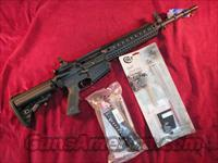 "COLT MODULAR CARBINE 308 CAL 16"" W/ MONOLITHIC QUAD RAIL AND FLIP UP SIGHTS W/ 5.56 CONVERSION KIT NEW"